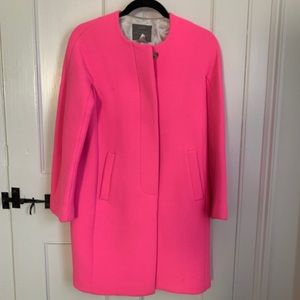 J. Crew Hot pink wool coat